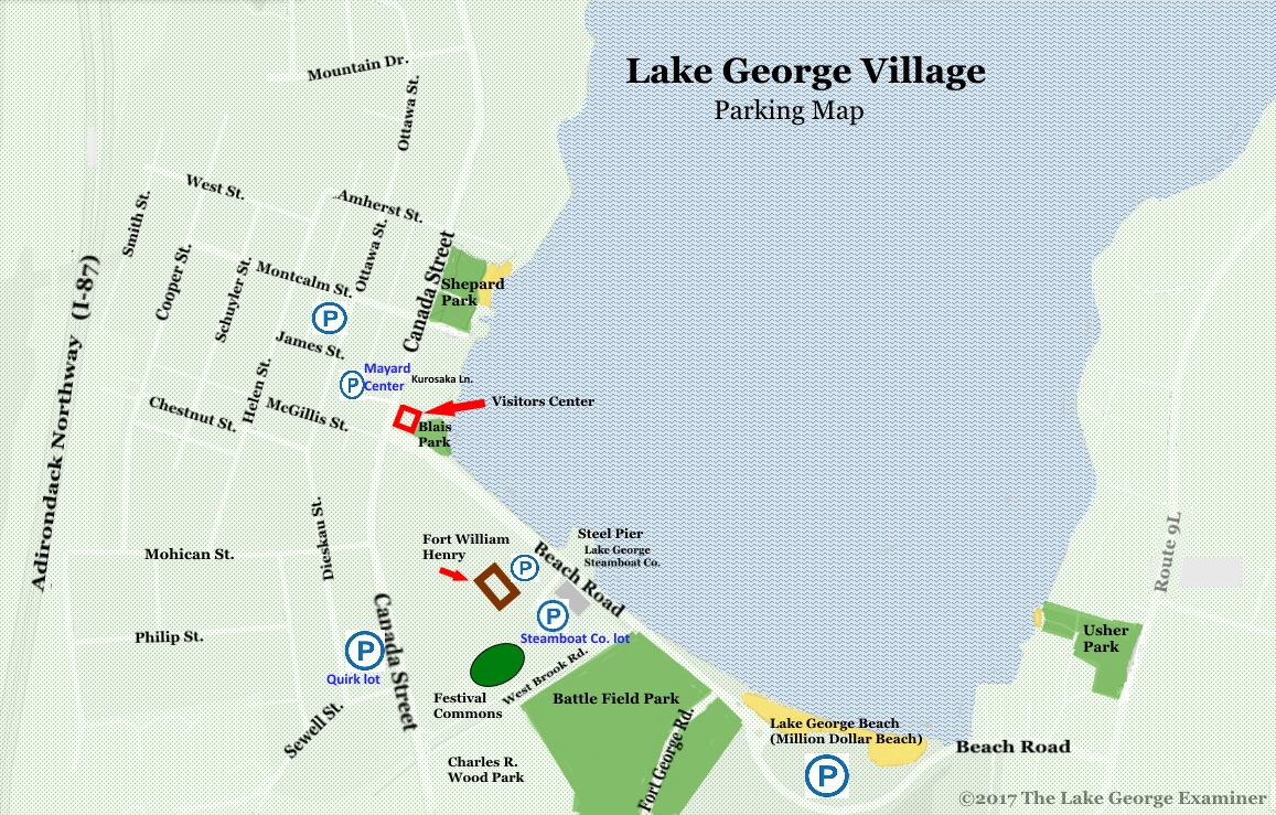 Lake George Village Parking The Lake George Examiner